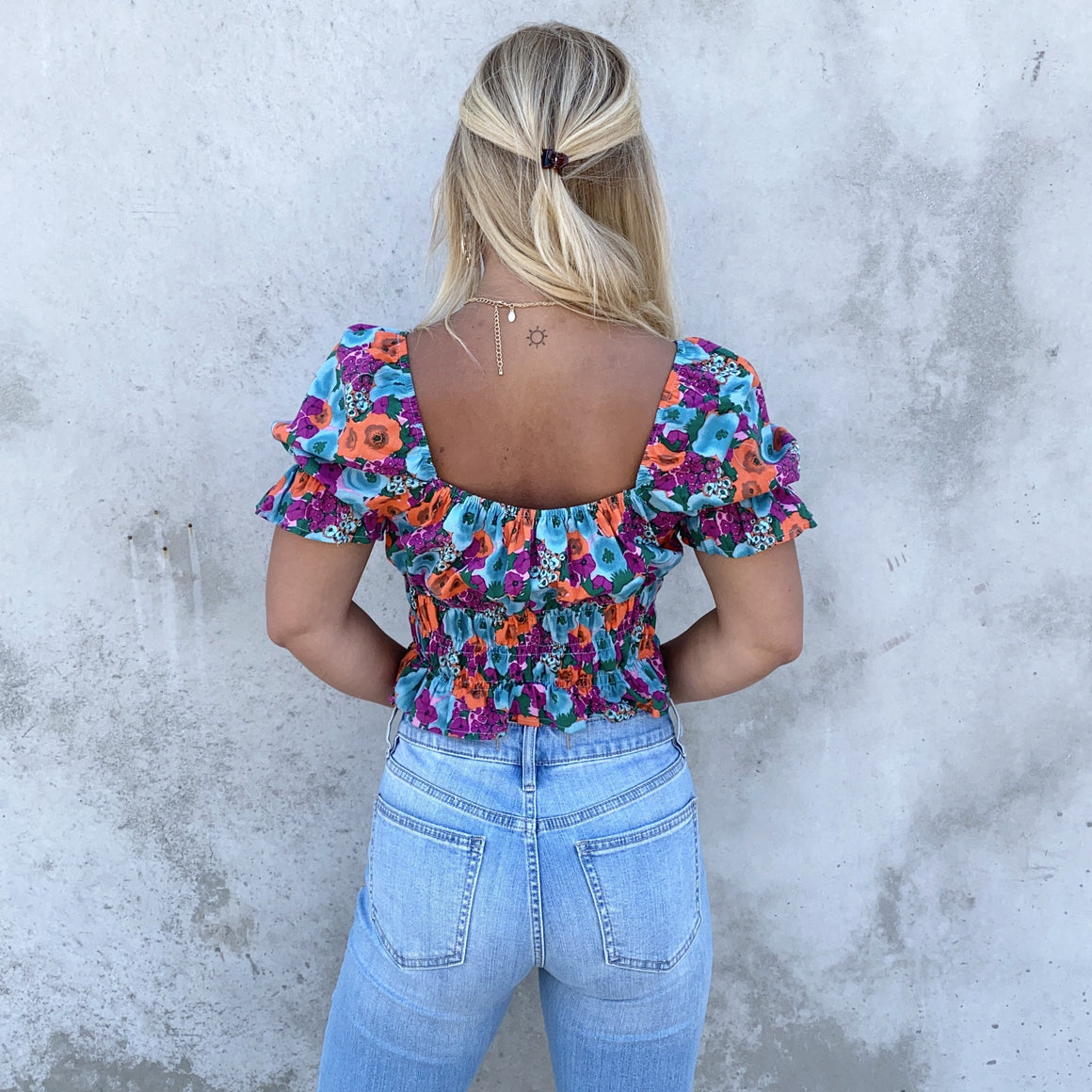 Feel This Way Floral Print Top - Dainty Hooligan