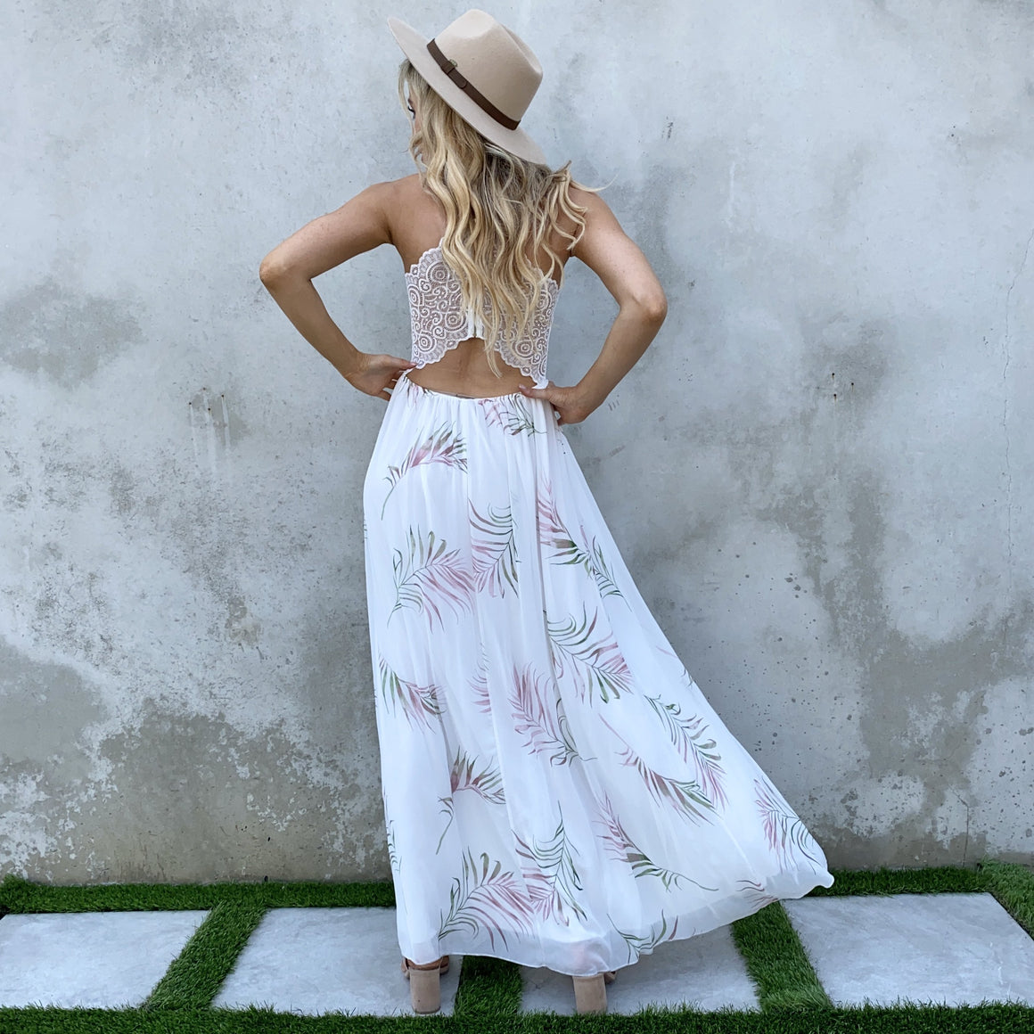 Romantic Gesture Palm Print Maxi Dress - Dainty Hooligan