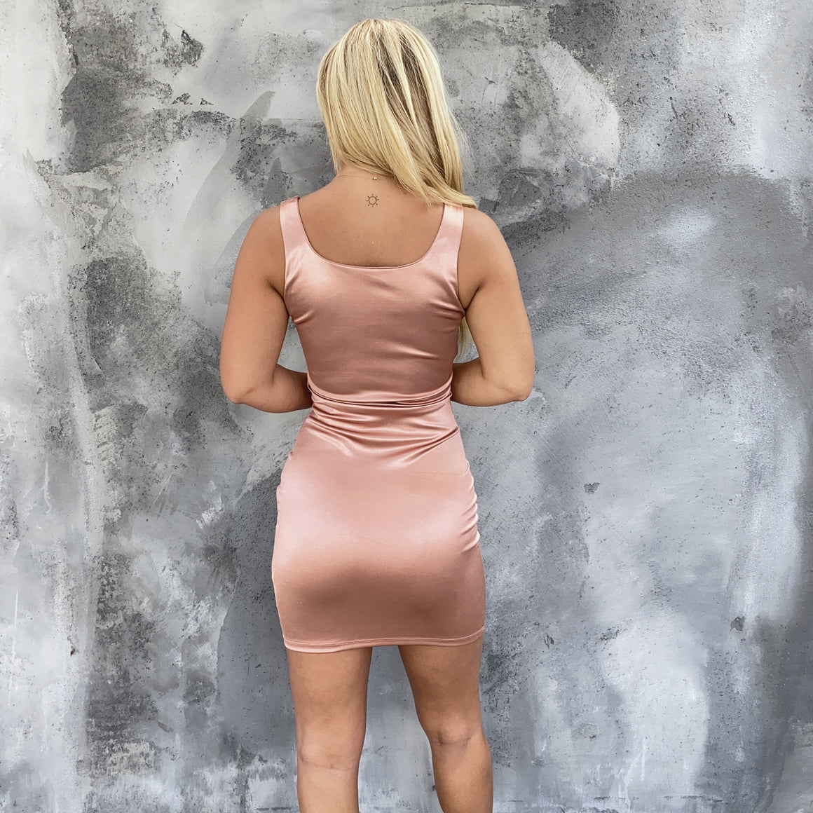 Much Obliged Rose Gold Bodycon Dress - Dainty Hooligan