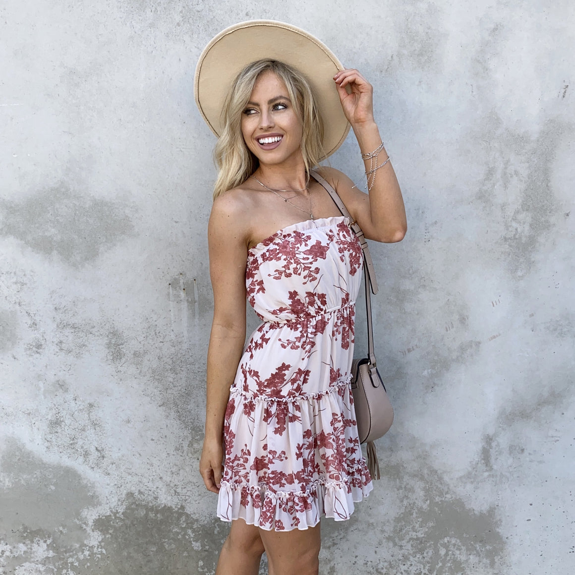 Have Mercy Floral Strapless Dress - Dainty Hooligan