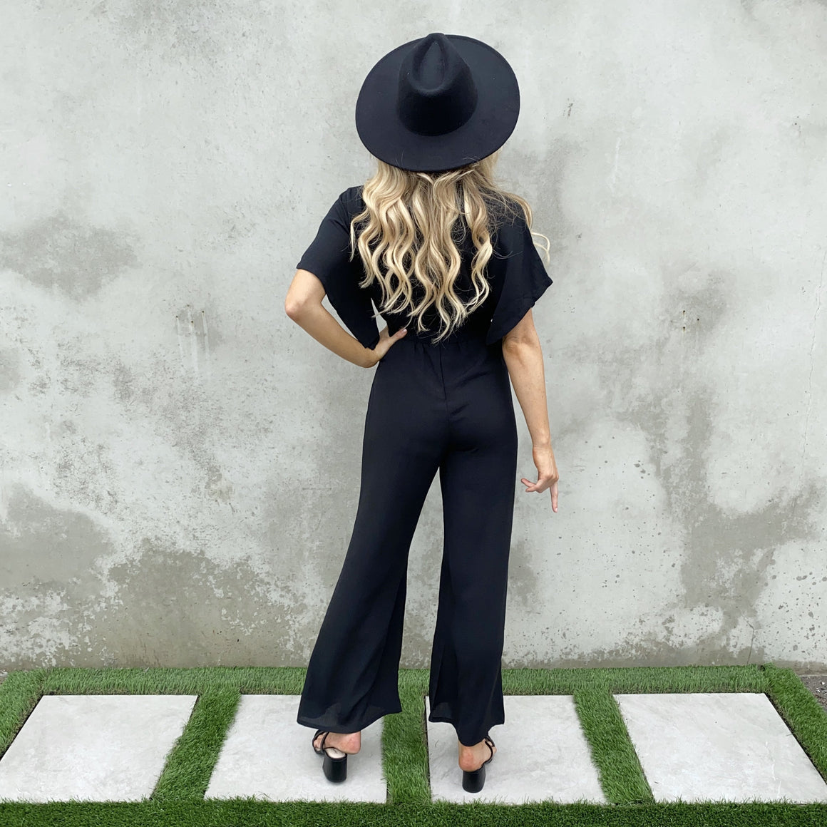 Peace Of Mind Black Jumpsuit - Dainty Hooligan