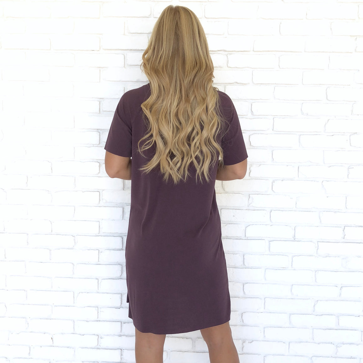 Effortless Run Around Dress in Plum