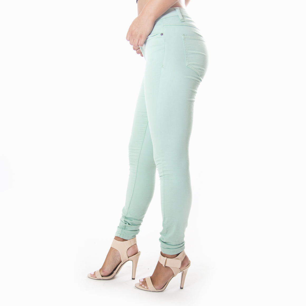 Classic Skinny Pants In Sage