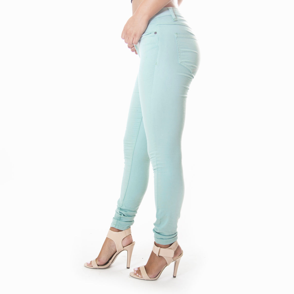 Classic Skinny Pants In Maya Blue