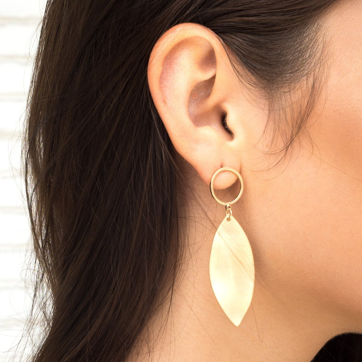 Leaflet Gold Earrings - Dainty Hooligan