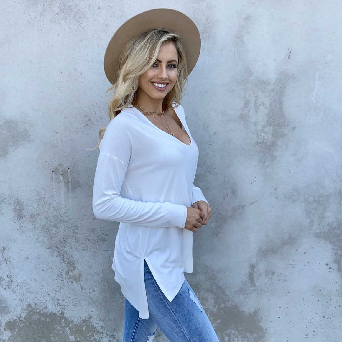 Dusk to Dawn Tunic Top In White - Dainty Hooligan