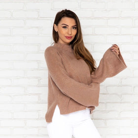 edf87e304c3ca In The Clouds Mauve Knit Sweater ...