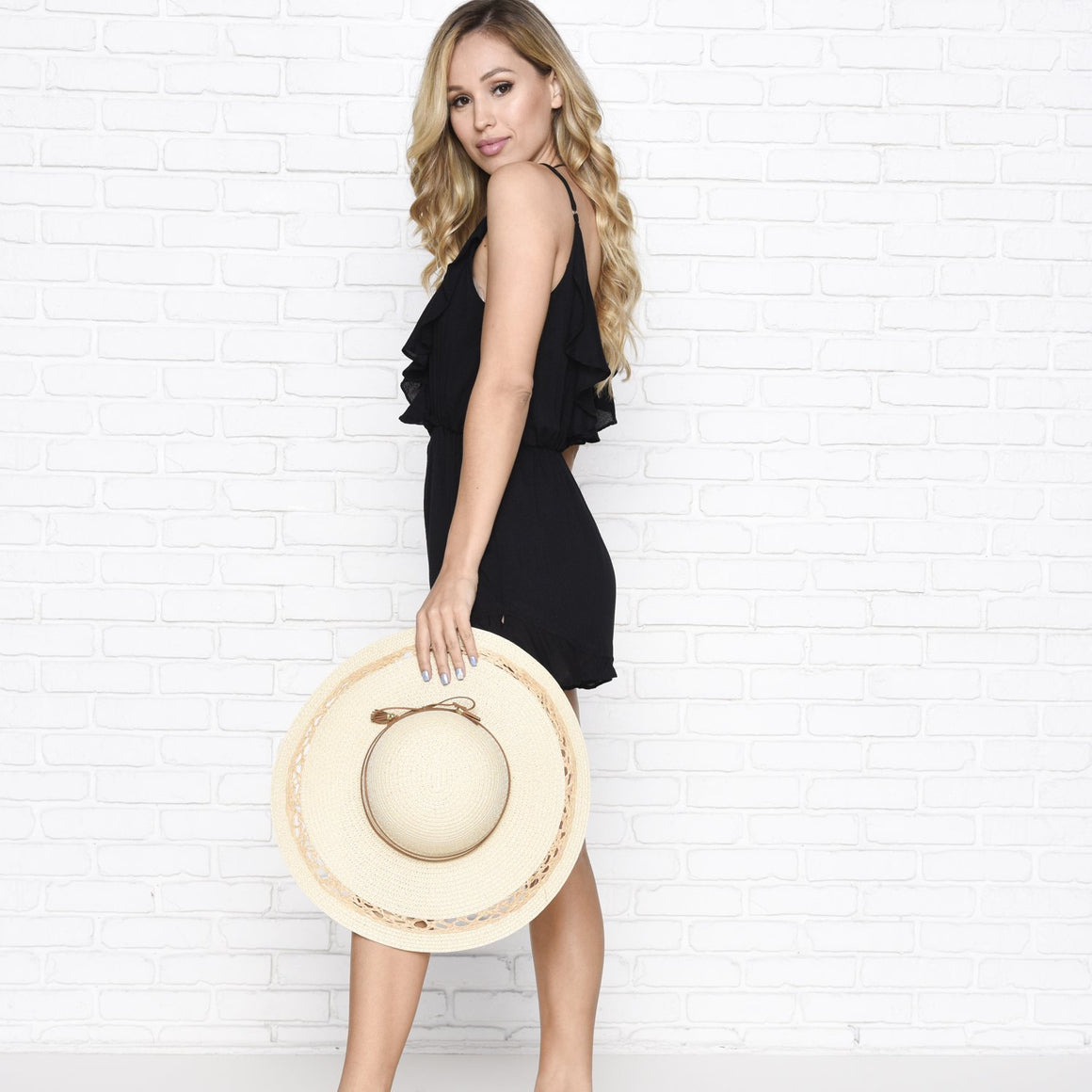 Havana Straw Floppy Hat in Natural - Dainty Hooligan