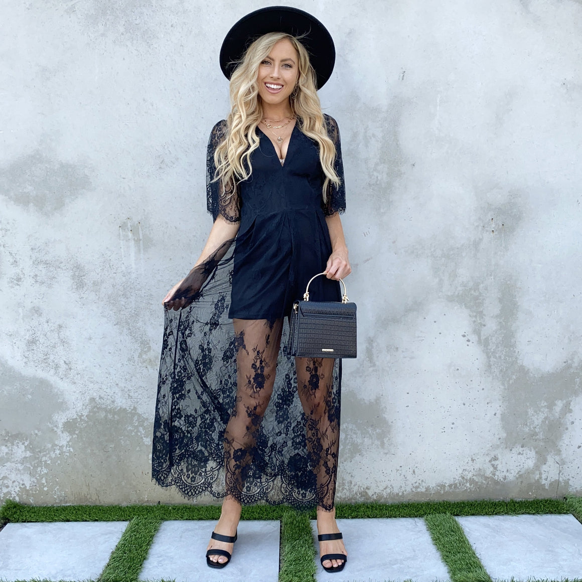 Love Is In The Air Black Lace Maxi Dress - Dainty Hooligan