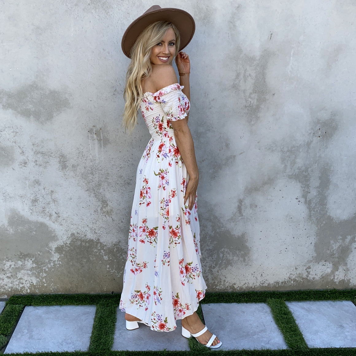 Always Yours Floral Maxi Dress in Ivory - Dainty Hooligan