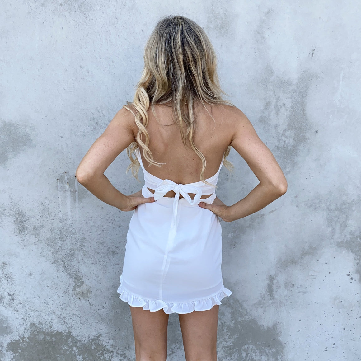 Dream Maker Strapless White Dress - Dainty Hooligan