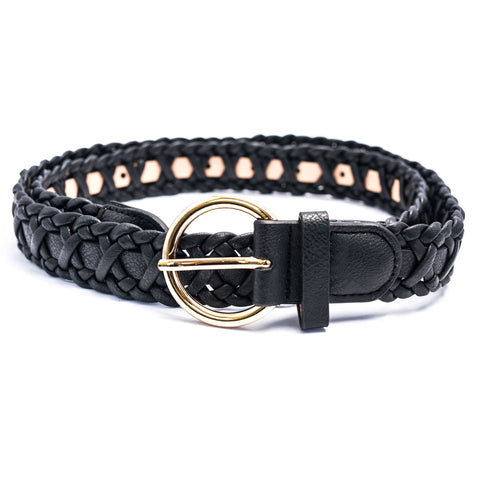Hold Me Up Black Woven Belt