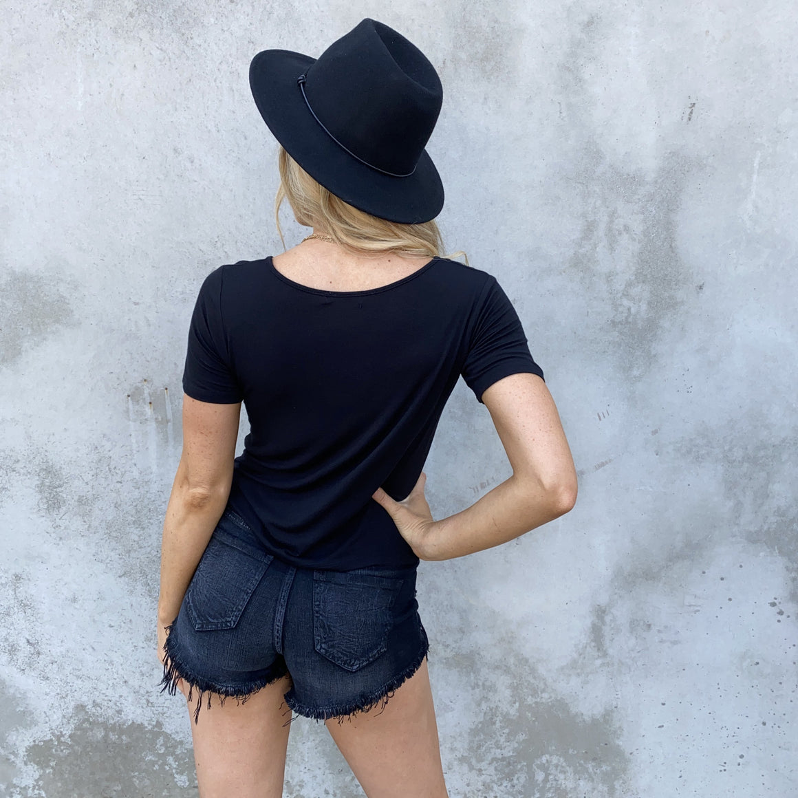 Camila Basic Tee in Black - Dainty Hooligan