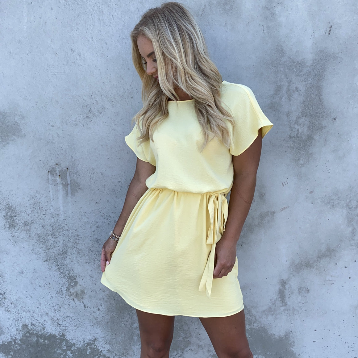 Reach New Heights Shift Dress In Yellow - Dainty Hooligan