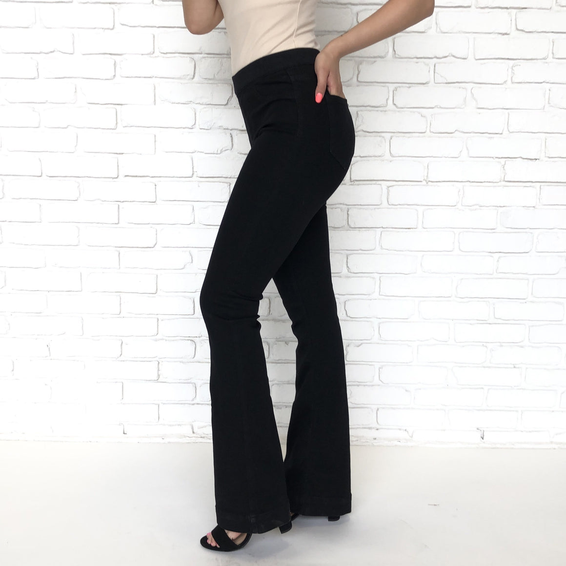 Derek Black Flared Bell Bottom Jegging Pants