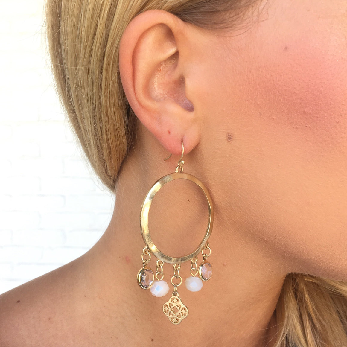 Charming Chic Hoop Earrings In Gold - Dainty Hooligan