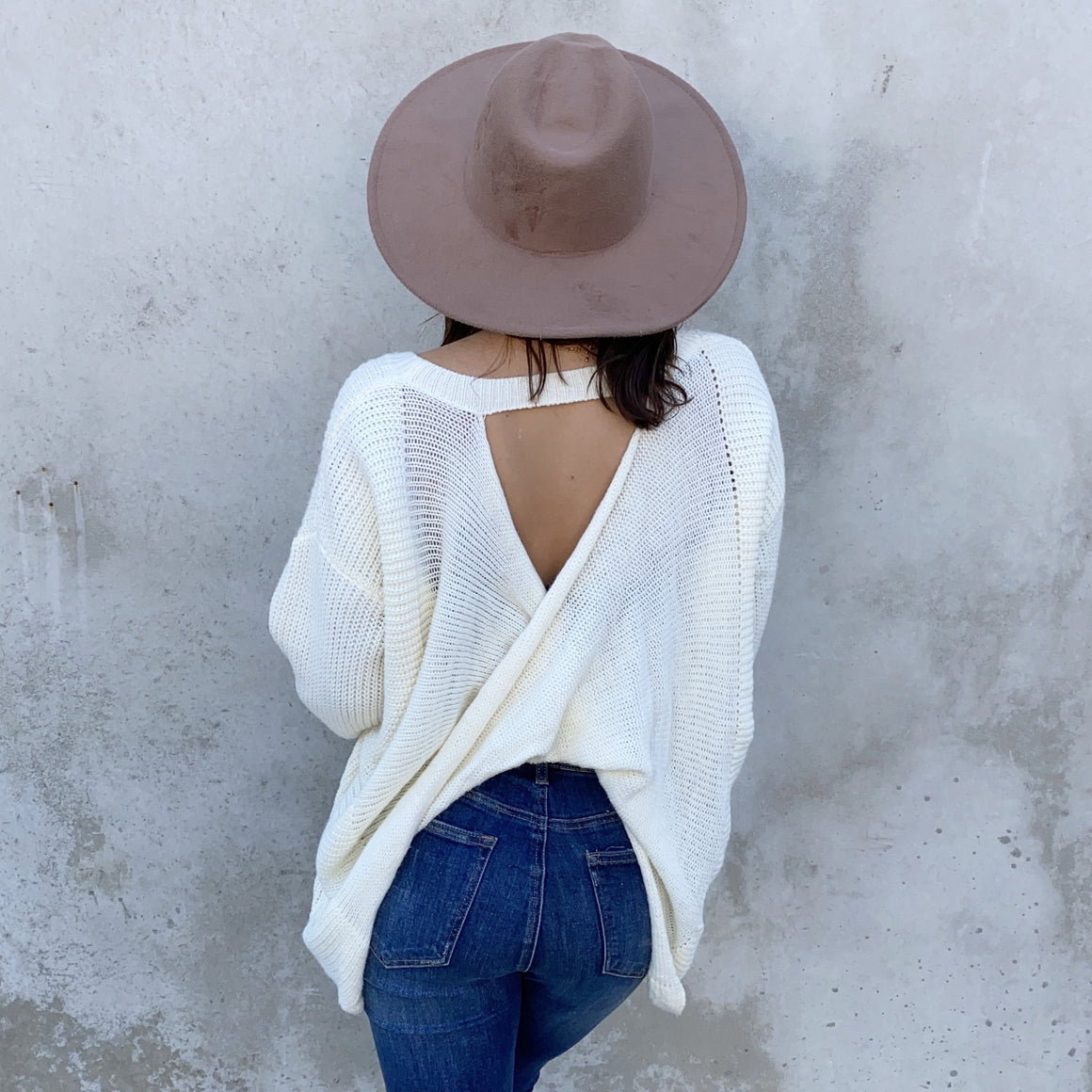 Give It A Twist Knit Sweater In Ivory - Dainty Hooligan