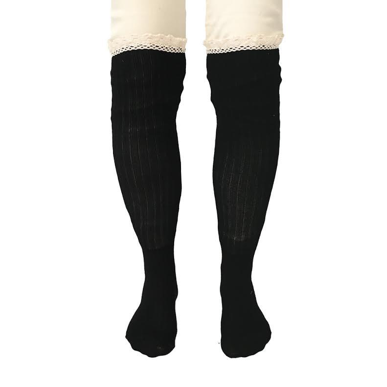 Knee High Socks In Black