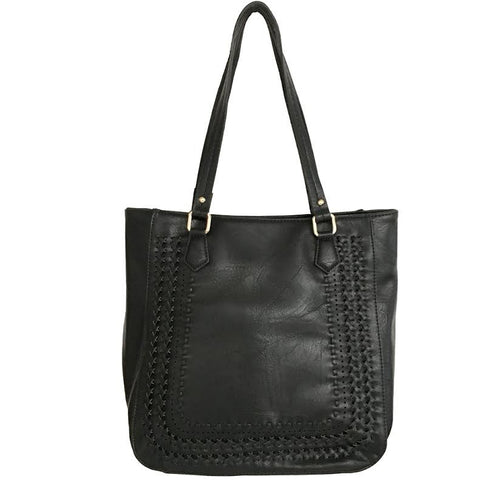 Rustic Road Tote Handbag In Black