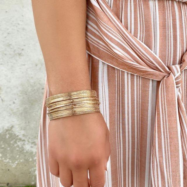 Party Up Gold Bangles - Dainty Hooligan