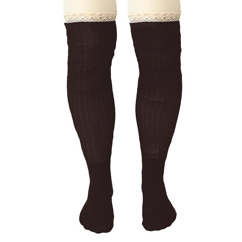 Knee High Socks In Dark Brown