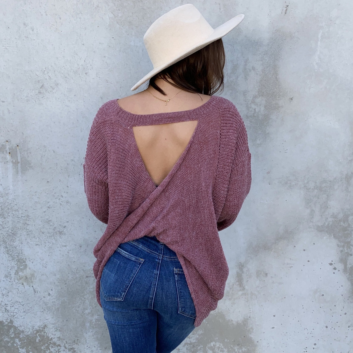 Give It A Twist Knit Sweater In Mauve Pink - Dainty Hooligan