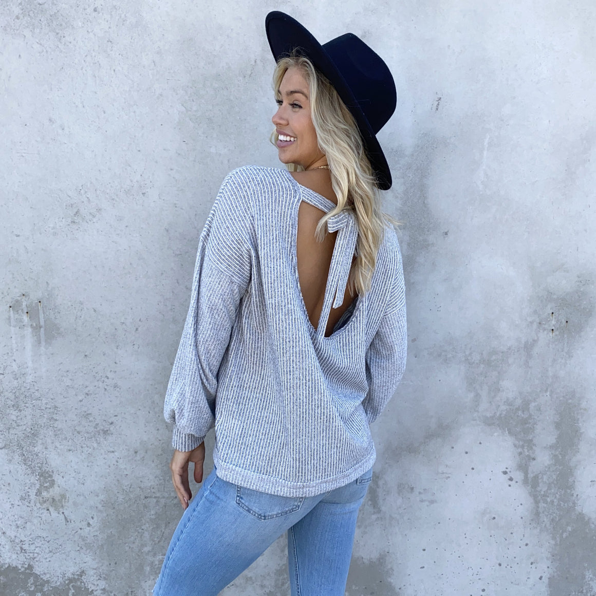 A Little Tied Up Bow Back Knit Sweater Top - Dainty Hooligan