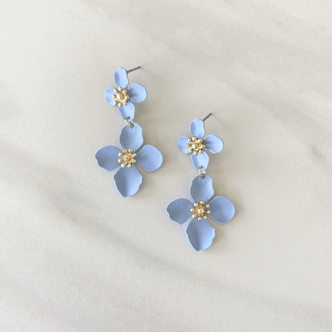 Grew On You Blue Lily Earrings