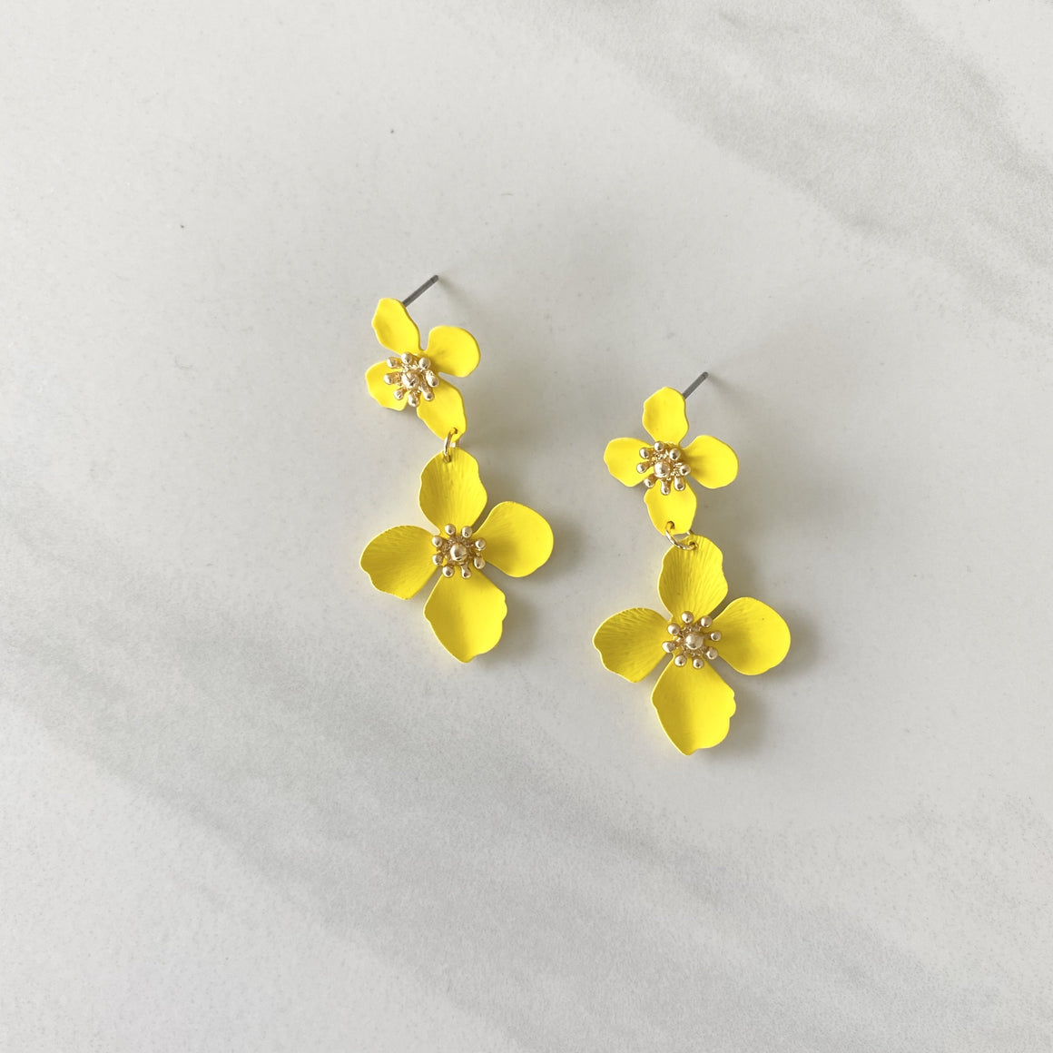 Grew On You Yellow Lily Earrings - Dainty Hooligan