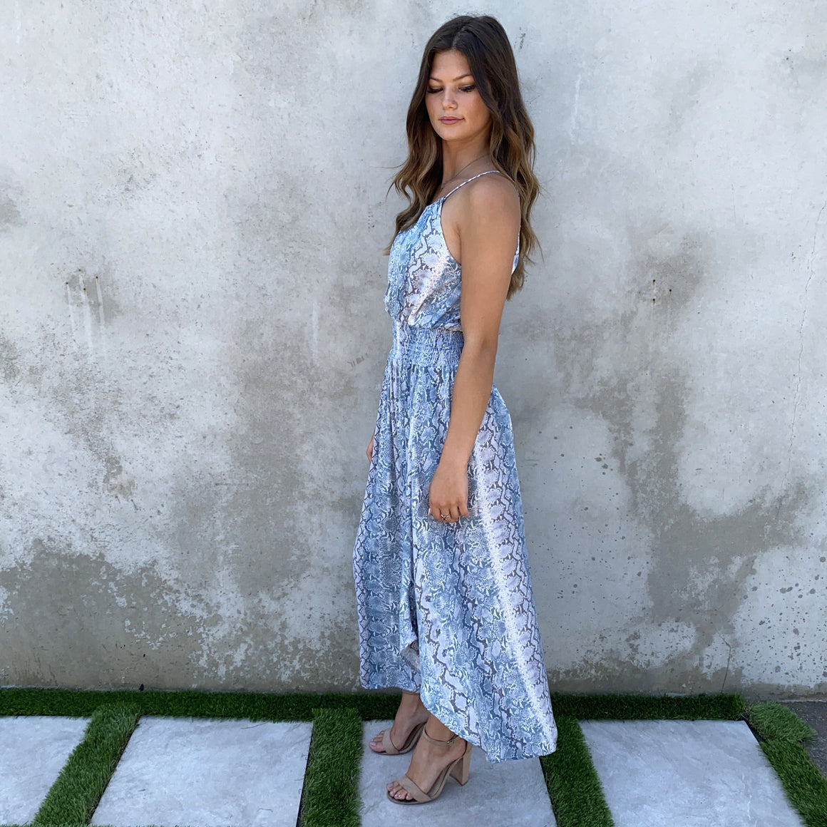Wild Attractions Snake Print Maxi Dress