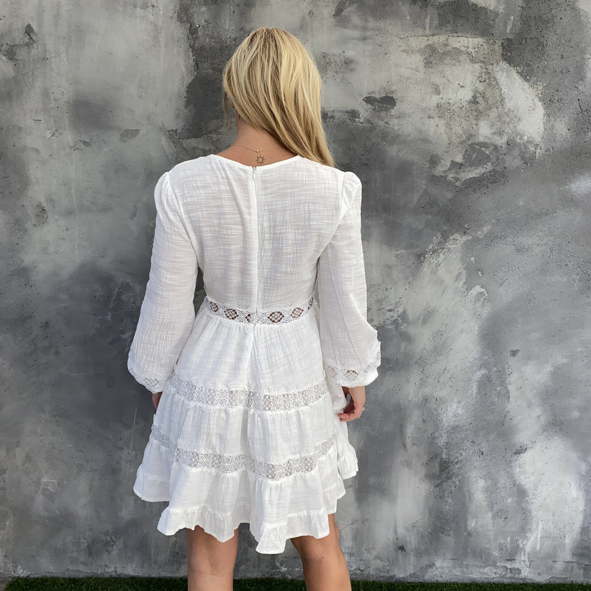 Ruffle & Flow Ivory Dress