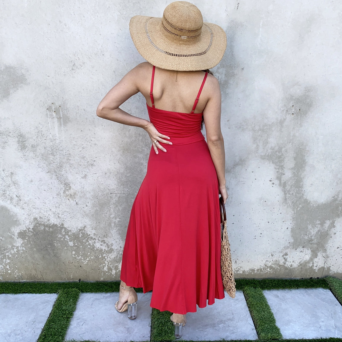 Go With The Flow Jersey Maxi Dress