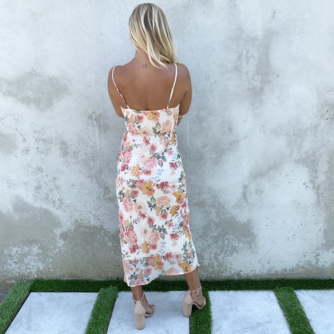 Floral Grace Sheer Maxi Dress