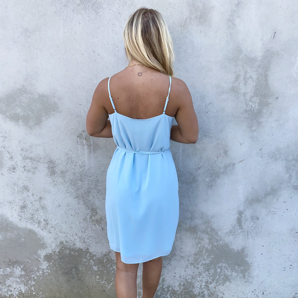 Clear Skies Wrap Dress