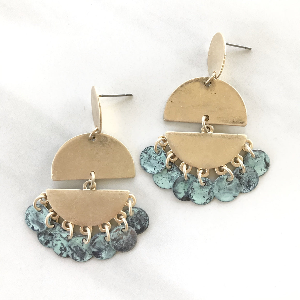 Never Enough Turquoise Earrings - Dainty Hooligan