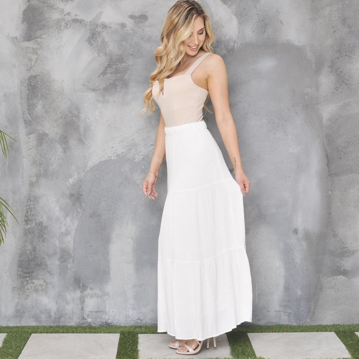 Flow With Me Maxi Skirt in Ivory - Dainty Hooligan