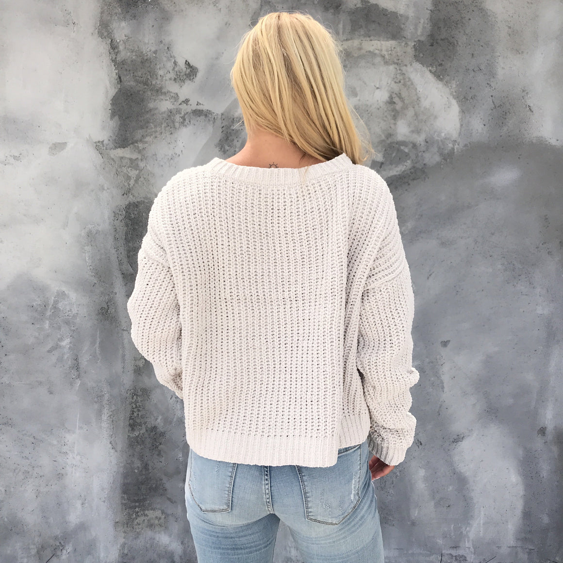 Let's Get Cozy Knit Sweater in Stone - Dainty Hooligan