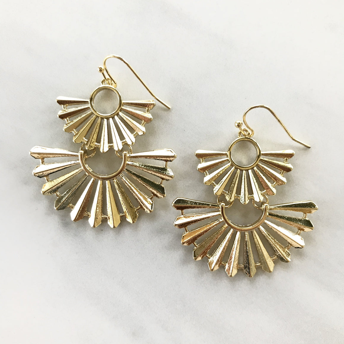 On A Mission Gold Earrings - Dainty Hooligan