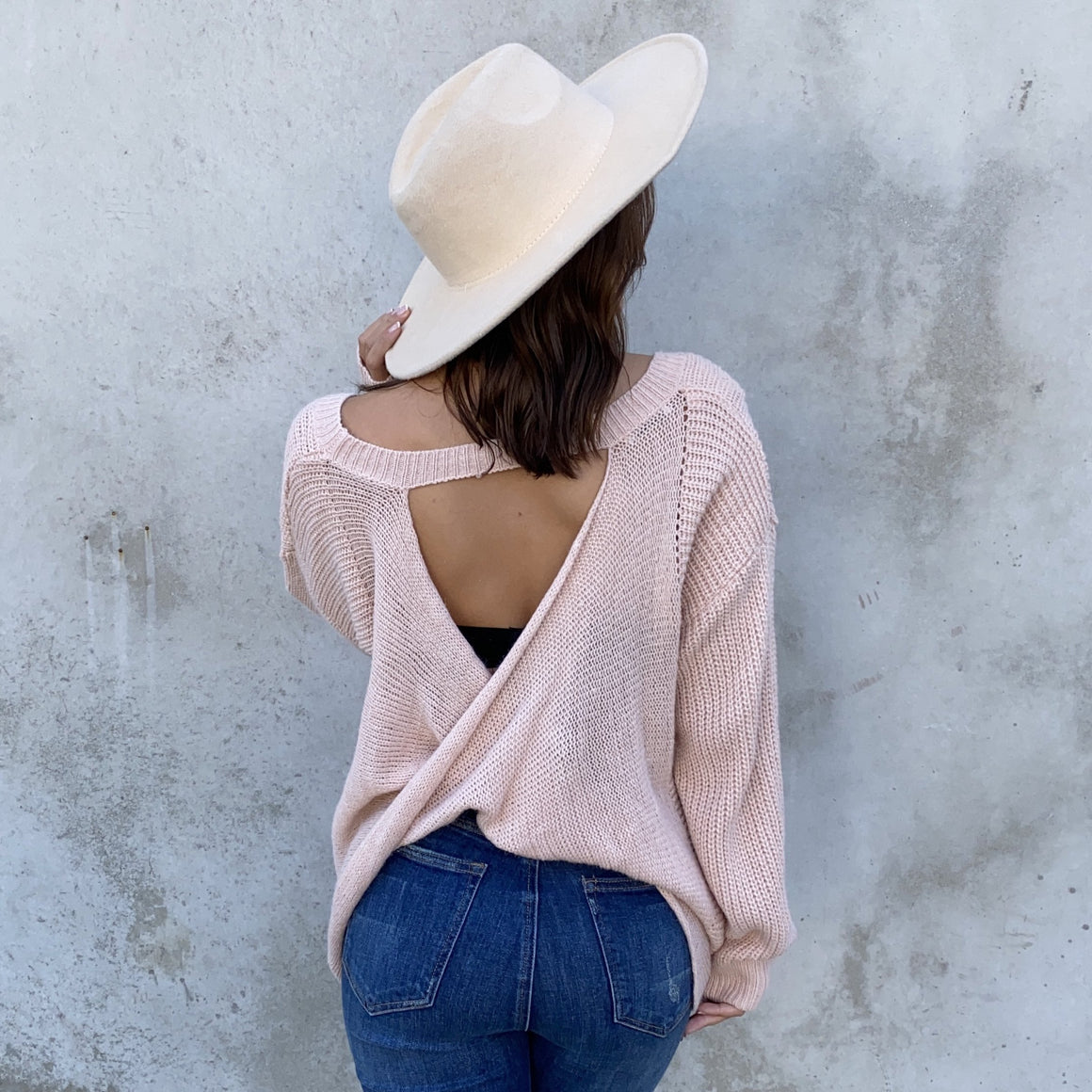 Give It A Twist Knit Sweater In Pink - Dainty Hooligan
