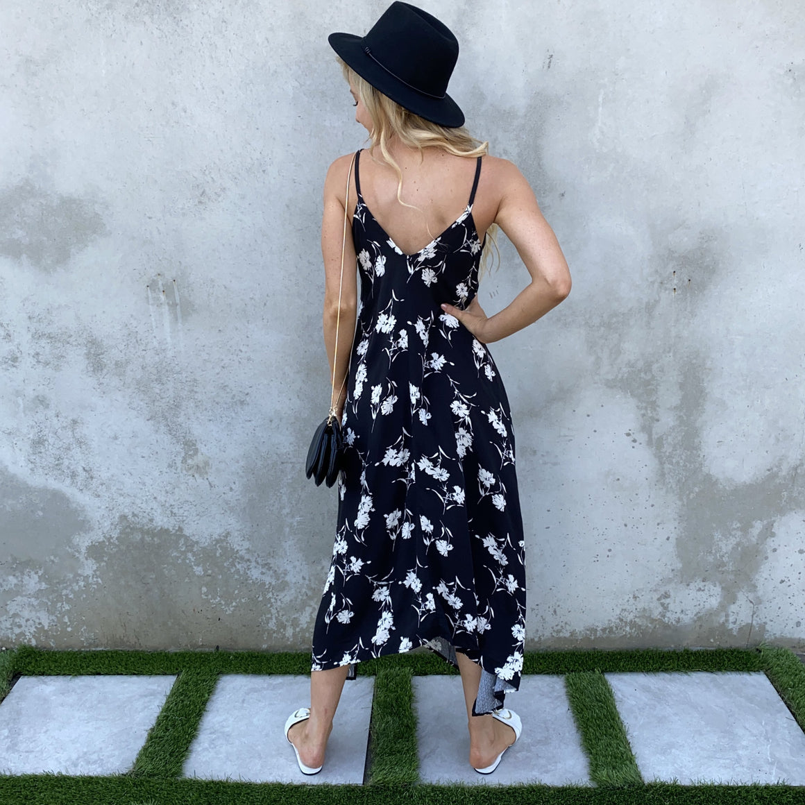 Beautiful Canvas Black & White Floral Maxi Dress - Dainty Hooligan