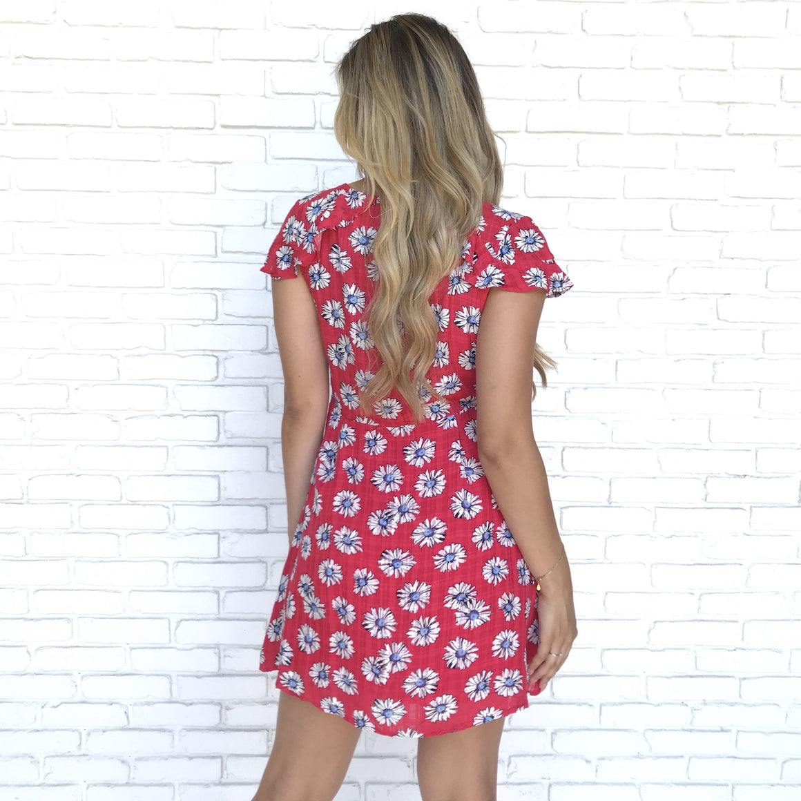 Through The Daisy Fields Floral Skater Dress