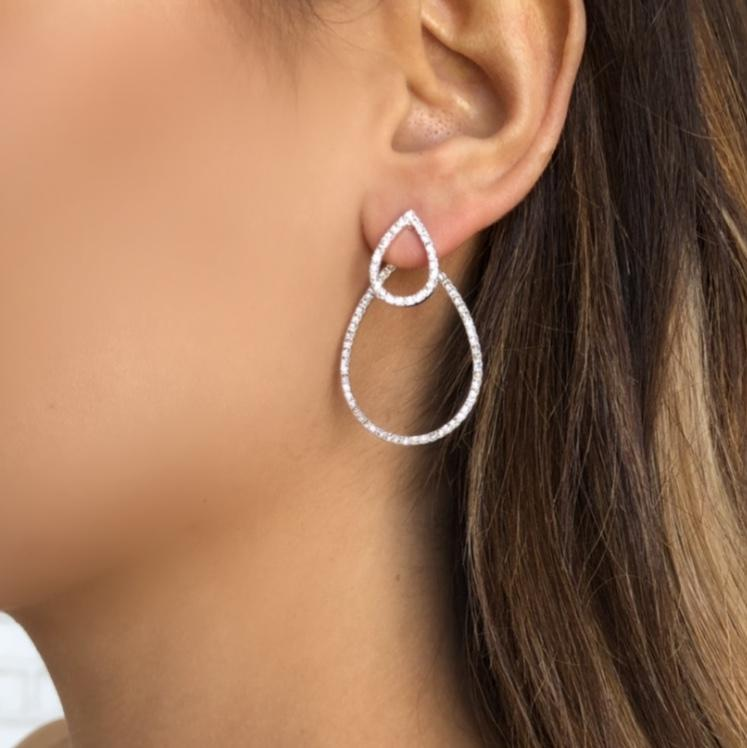 Into You Crystal Teardrop Earrings