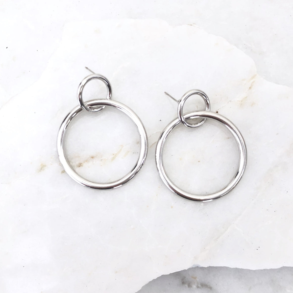 Eternal Love Silver Hoop Earrings