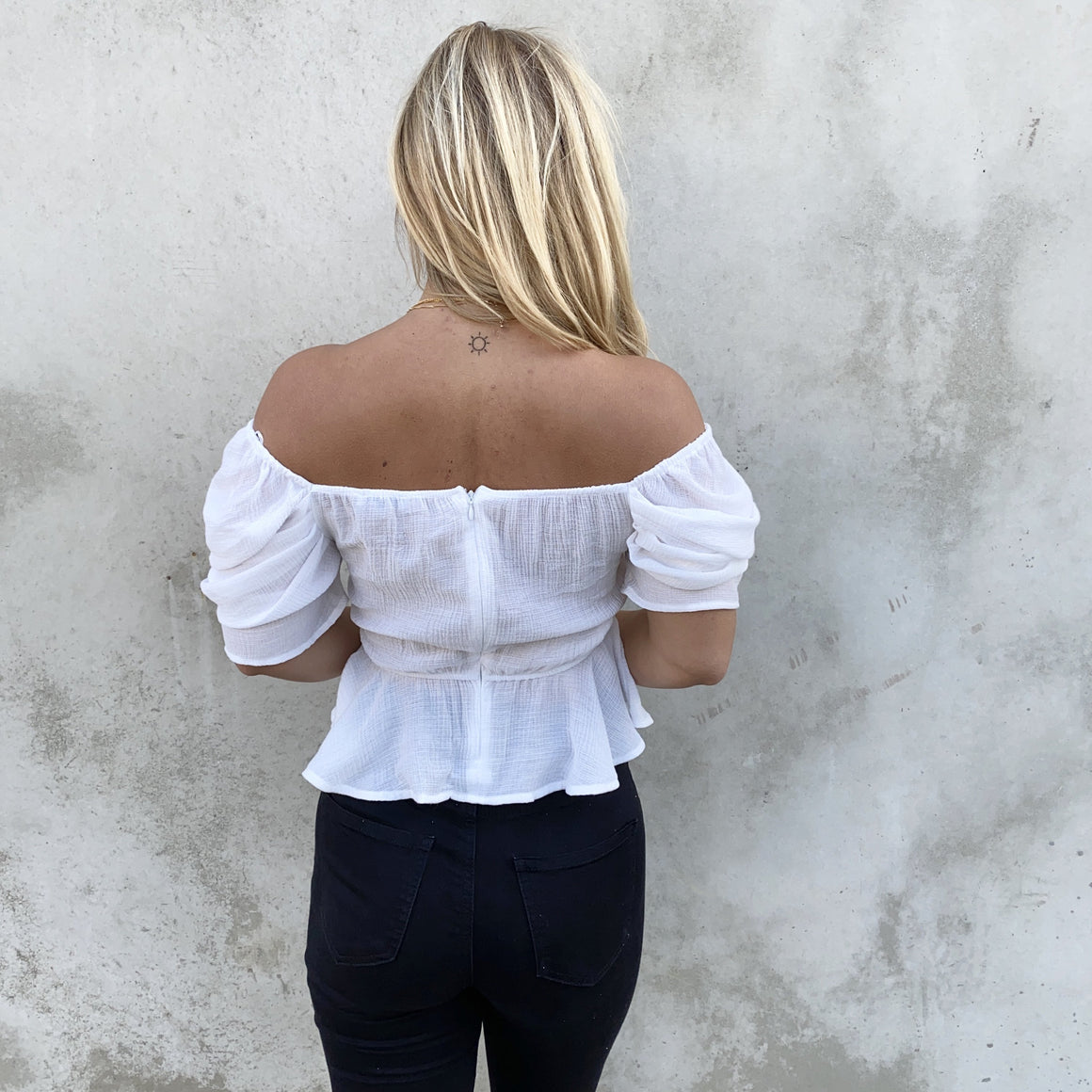 Set The Mood White Blouse - Dainty Hooligan