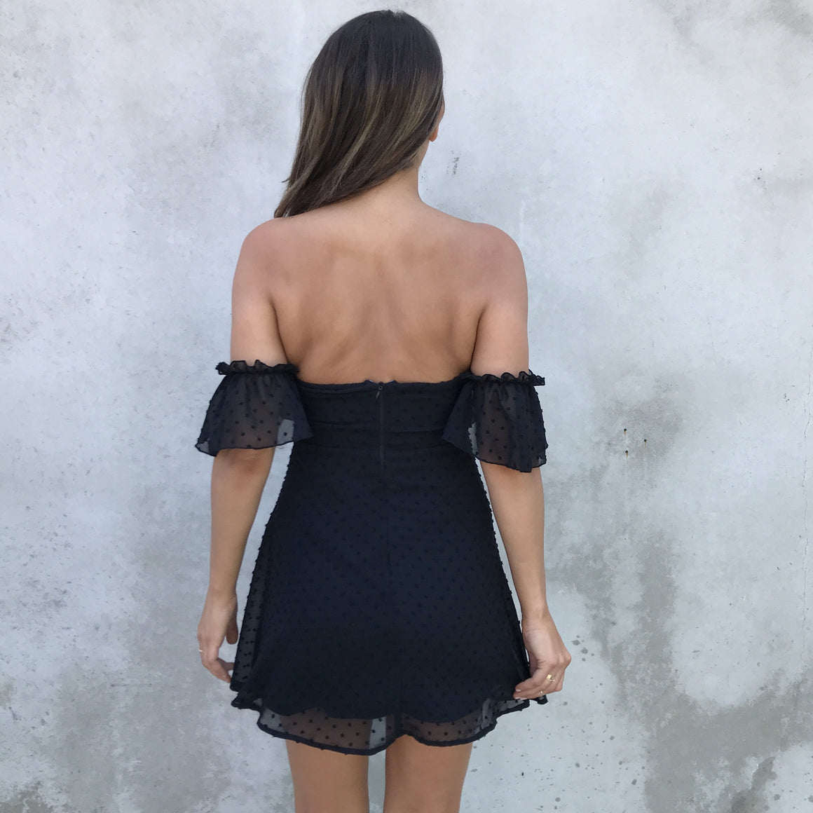 Sweet Sensation Off Shoulder Little Black Dress