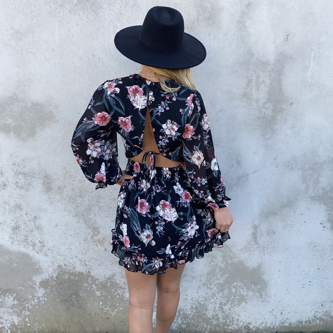 Secret Admirer Black Floral Dress - Dainty Hooligan