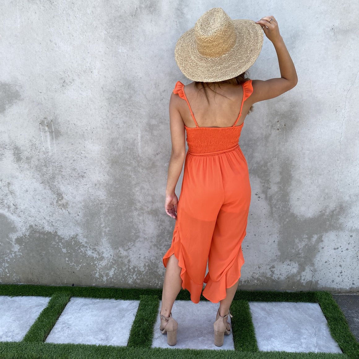 Summer Playtime Orange Jumpsuit - Dainty Hooligan