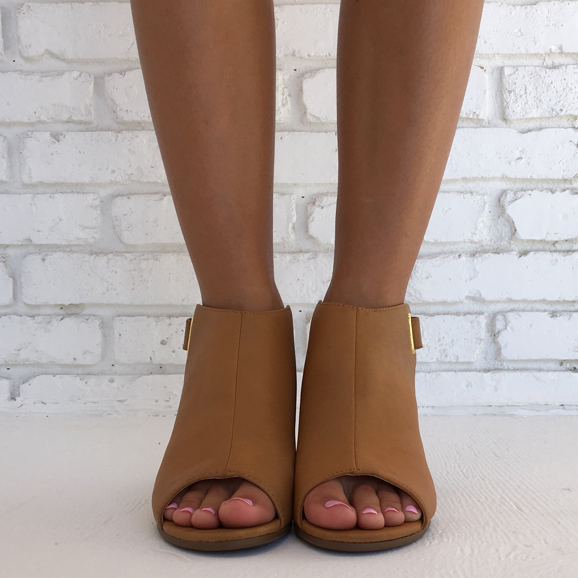 The Lasted Leather Booties in Camel