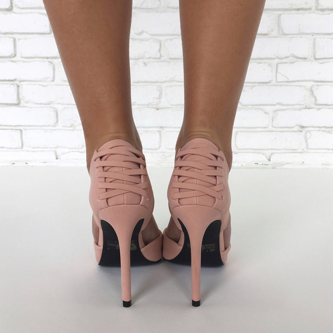 She's The Boss Heels in Blush Pink
