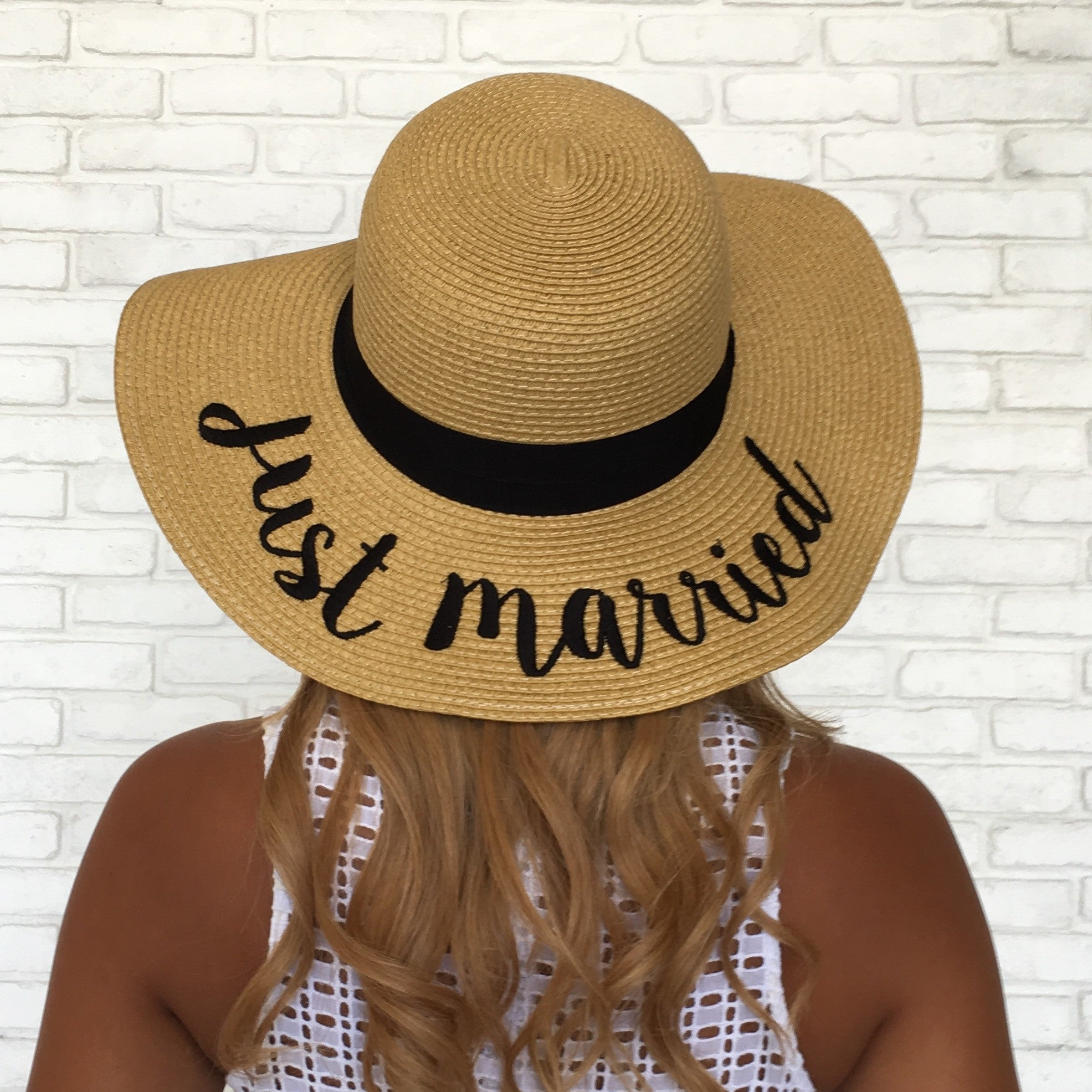 1c9663ab821 Just Married Floppy Hat - Dainty Hooligan Boutique